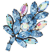 Buy Susan Caplan Vintage 1960s RegencySilver Plated Crystal Leaf Brooch, Blue Online at johnlewis.com