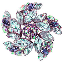 Buy Susan Caplan Vintage 1950's Sherman Silver Plated  Pinwheel Brooch, Blue/Purple Online at johnlewis.com