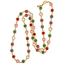 Buy Susan Caplan Vintage 1970's Ciro Crystal Link Necklace, Red/Pink Online at johnlewis.com