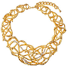 Buy Susan Caplan Vintage 1990s Elizabeth Taylor Gold Plated Precious Vine Necklace, Gold Online at johnlewis.com