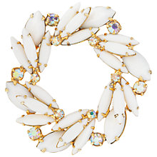 Buy Susan Caplan Vintage 1950's Weiss Gold Plated  Brooch, Gold/White Online at johnlewis.com