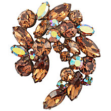 Buy Susan Caplan Vintage 1950's Regency Gold Plated Topaz Crystal Brooch, Brown Online at johnlewis.com