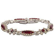 Buy Susan Caplan Vintage 1960's Kramer Ruby Red Crystal Bracelet, Red/Silver Online at johnlewis.com