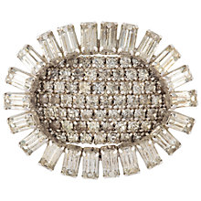 Buy Susan Caplan Vintage 1950's Kramer Silver Plated Crystal Oval Brooch, Silver Online at johnlewis.com