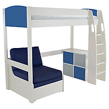 Buy Stompa Uno S Plus High-Sleeper with 4 Door Cube Unit and Chair Bed Online at johnlewis.com