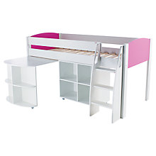 Buy Stompa Uno S Plus Mid-Sleeper Bed with Pull-Out Desk and Cube Unit Online at johnlewis.com