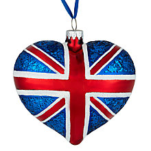 Buy John Lewis Union Jack Heart Bauble Online at johnlewis.com