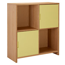 Buy House by John Lewis Oxford 2 x 2 Unit with 2 Cupboard Doors Set, Dandelion / Oak Online at johnlewis.com