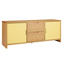 Buy House by John Lewis Oxford 3 x 1 Unit with 2 Doors and 2 Drawers, Dandelion / Oak Online at johnlewis.com