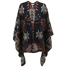 Buy Miss Selfridge Aztec Cape, Henna Brown Online at johnlewis.com