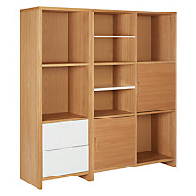 Buy House by John Lewis Oxford Shelving Unit, White / Oak Online at johnlewis.com