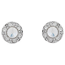 Buy Cachet Rhodium Plated Swarovski Crystal Surround Earrings, Silver Online at johnlewis.com