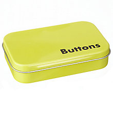 Buy John Lewis Buttons Storage Tin, Yellow Online at johnlewis.com