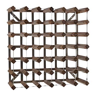 Traditional Wine Rack Co. Redwood Wine Rack, 42 Bottle, Dark Wood