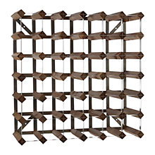Buy Traditional Wine Rack Co. Redood Wine Rack, 42 Bottle, Dark Wood, FSC Certified Online at johnlewis.com
