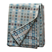 Buy Melin Tregwynt Mondo Spot Throw, Aqua Online at johnlewis.com