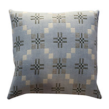 Buy Melin Tregwynt St Davids Cross Cushion, Blue Online at johnlewis.com