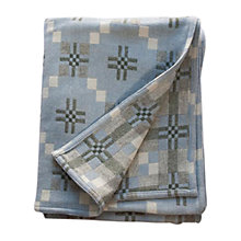 Buy Melin Tregwynt St. David's Cross Throw, Blue Online at johnlewis.com