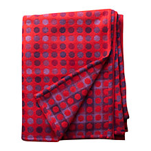 Buy Melin Tregwynt Mondo Spot Throw, Red Online at johnlewis.com
