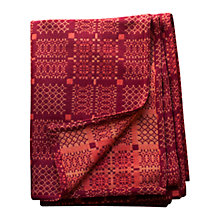 Buy Melin Tregwynt Knot Garden Throw, Ember Online at johnlewis.com