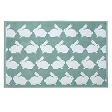 Buy Anorak Kissing Rabbits Bath Mat, Blue Online at johnlewis.com