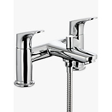 Buy John Lewis Eden Deck Mounted Bath and Shower Mixer, Chrome Online at johnlewis.com