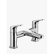 Buy John Lewis Eden Deck Mounted Bath Filler, Chrome Online at johnlewis.com