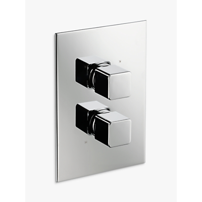 John Lewis Spey Concealed Thermostatic Shower Valve (2 Exit), Chrome