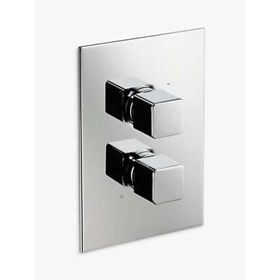 John Lewis Spey Concealed Thermostatic Shower Valve (1 Exit), Chrome