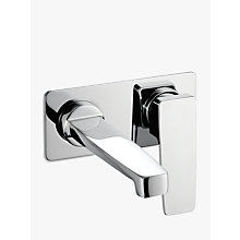 Buy John Lewis Spey Wall Mounted Basin / Bath Filler, Chrome Online at johnlewis.com