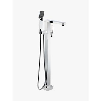 John Lewis Spey Floor Standing Bath Mixer with Shower Handset, Chrome