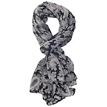 Buy French Connection Paisley Party Scarf, Black Online at johnlewis.com