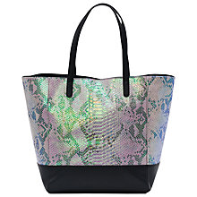Buy French Connection Jasmine Shopper Bag, Pink/Black Online at johnlewis.com