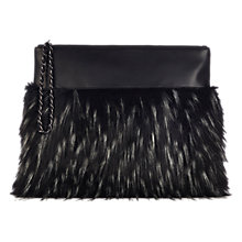 Buy Coast Faux Fur Clutch Bag, Black Online at johnlewis.com