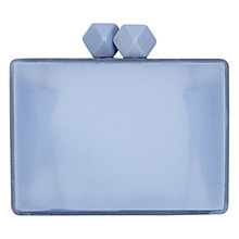 Buy Coast Pizzaz Clutch Bag, Pale Blue Online at johnlewis.com