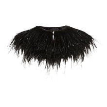 Buy Coast Ostrich Tippet, Black Online at johnlewis.com