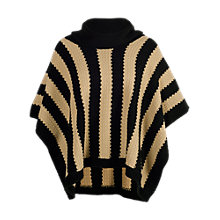 Buy Chesca Stripe Poncho, Black/Beige Online at johnlewis.com
