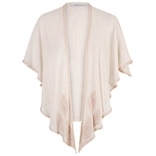 Buy Chesca Zigzag Bead Trim Shawl, Champagne Online at johnlewis.com