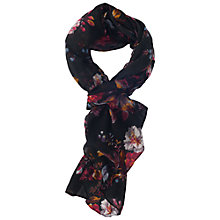 Buy French Connection Gardini Floral Scarf, Black Online at johnlewis.com