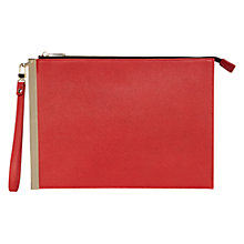 Buy Coast Aluna Wrist Clutch Bag, Red Online at johnlewis.com