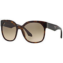 Buy Prada PR10RS Square Sunglasses, Havana Online at johnlewis.com