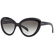Buy Prada PR08RS Cat's Eye Sunglasses, Black Online at johnlewis.com