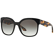 Buy Prada PR10RS Round Sunglasses, Black Online at johnlewis.com