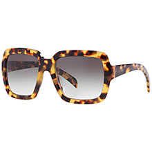 Buy Prada PR07RS Square Sunglasses, Medium Havana Online at johnlewis.com