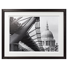 Buy Niki Gorick - Millennium Bridge Framed Print, 59 x 76cm Online at johnlewis.com