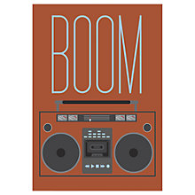 Buy Jeremy Harnell - Boom Box Unframed Print, 70 x 50cm Online at johnlewis.com