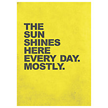 Buy Nick Cranston - Sunshine Yellow Unframed Print, 70 x 50cm Online at johnlewis.com