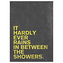 Buy Nick Cranston - Rain Grey Unframed Print, 70 x 50cm Online at johnlewis.com