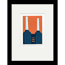 Buy Jennie Ing - Battersea Power Station Limited Edition Framed Linocut, 44 x 34cm Online at johnlewis.com