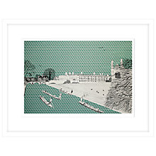 Buy Clare Halifax - Cruising King's College Cambridge Limited Edition Framed Screenprint, H73 x W93cm Online at johnlewis.com